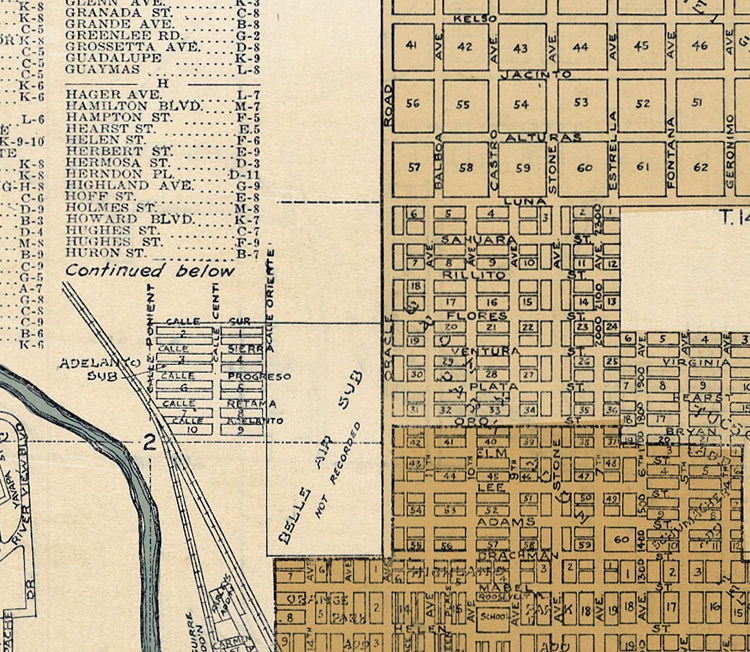 Old map of Tucson Arizona - OLD MAPS AND VINTAGE PRINTS