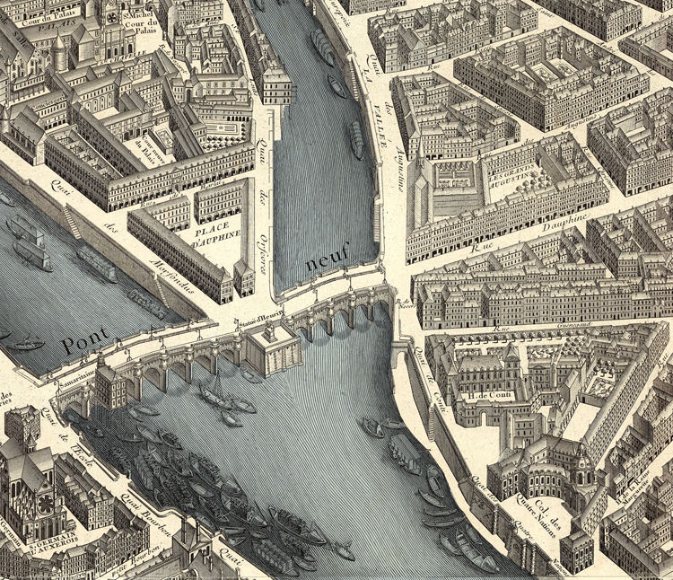 Old Map Of Paris Turgot 1739 Maps And Vintage Prints: Old Maps Of Paris At Slyspyder.com