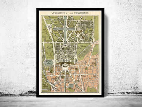 Old,Map,of,Versailles,France,1920,Art,Reproduction,Open_Edition,vintage,gravure,vintage_map,versailles, versailles map, versailles france, versailles poster, old map of versailles, old maps for sale, map reproductions