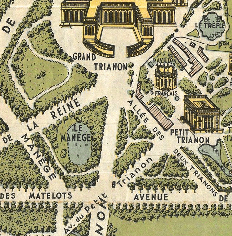 Old Map of Versailles France 1920 OLD MAPS AND VINTAGE PRINTS