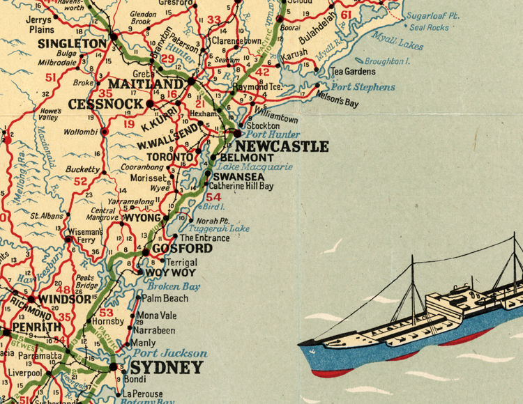 new south wales old map australia product image