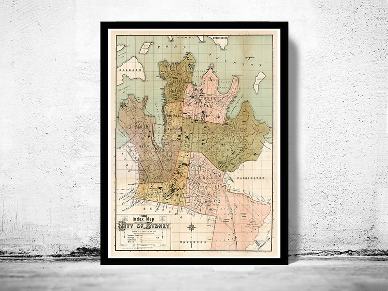 Old map of sydney australia 1889 old maps and vintage prints old map of sydney australia 1889 product image gumiabroncs Choice Image