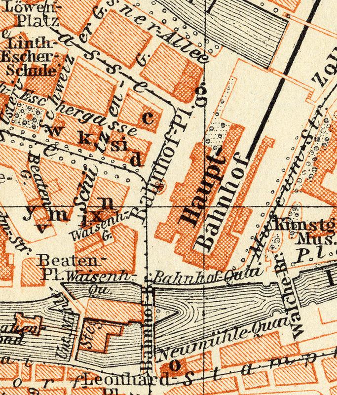 Old Map of Zurich, Switzerland 1913 - OLD MAPS AND VINTAGE PRINTS Zurich Map on