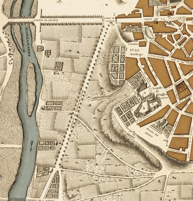 Beautiful Antique Map of Madrid 1761 Spain Espana