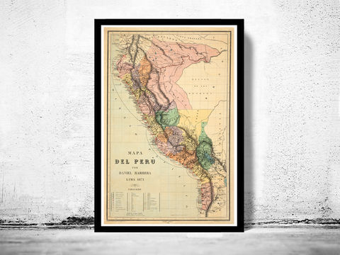 Old,map,of,Peru,1871,peru, map of peru, chile peru, poster, lima peru, old map, maps