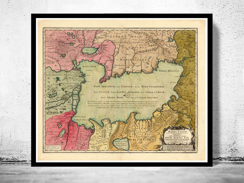 Old Map of Caspian Sea 1750 - product image