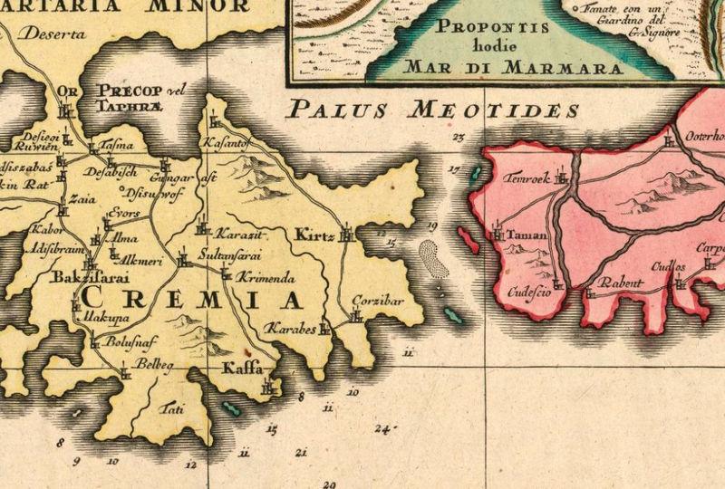 Old Map of Black Sea 1750 Crimea - OLD MAPS AND VINTAGE PRINTS