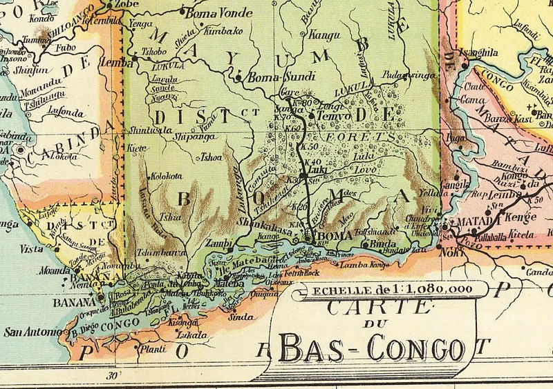 Old Map of Congo Africa 1910 - OLD MAPS AND VINTAGE PRINTS