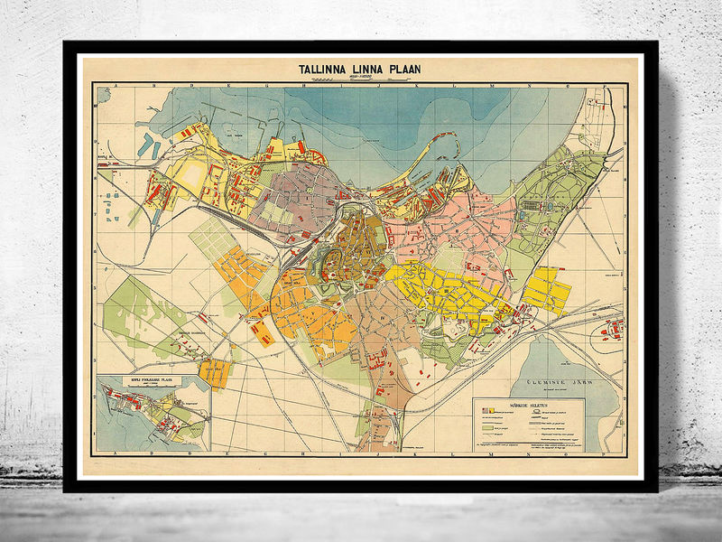 Old Map Of Tallinn Estonia OLD MAPS AND VINTAGE PRINTS - Tallinn map