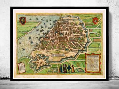 Old,Map,of,Antwerpen,Belgium,1572,Anvers,vintage map, old maps for sale, vintage maps, buy map, map of antwerp, old maps, maps for sale, map reproductions, anvers, anvers map, belgique anvers, Art,Reproduction,Open_Edition,city_map,retro,antique,Europe,belgium,antwerp,flanders,ol