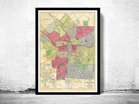 Old,Map,of,Syracuse,New,York,1901,syracuse ny map, Art,Reproduction,Open_Edition,United_States,old_map,vintage_map,antique_map,syracuse_poster,syracuse_map,map_of_syracuse,antique_syracuse,rochester_poster,rochester_vintage,syracuse_retro