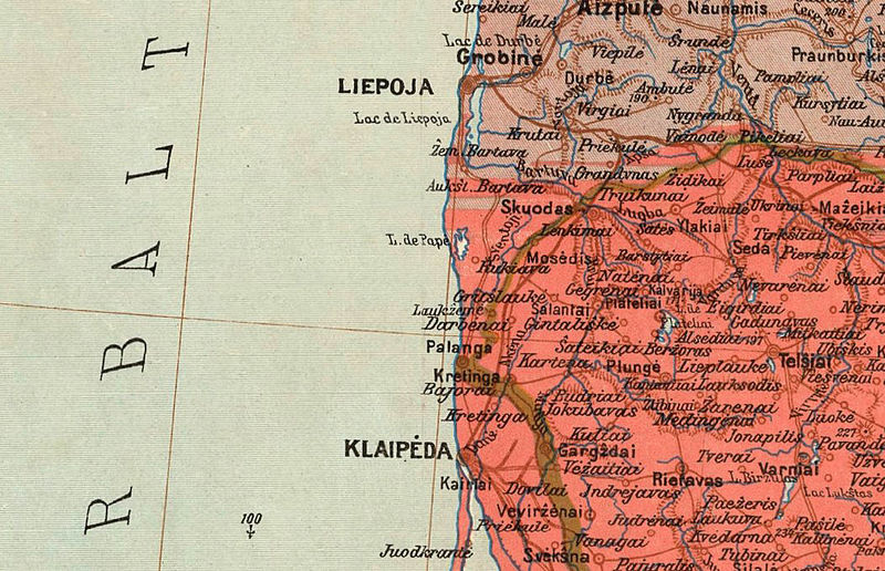 Old Map of Lithuania 1920 - product image