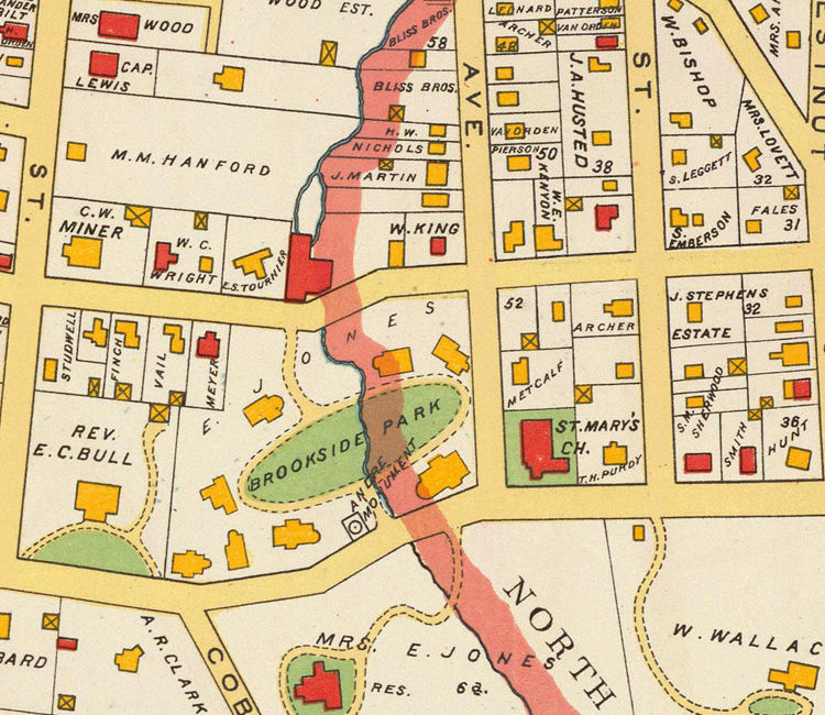 Sleepy Hollow Ny Map: Old Map Of Tarrytown New York 1893