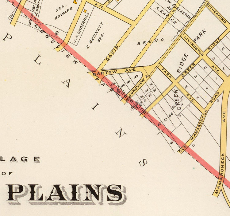 Old Map of White Plains New York 1893 OLD MAPS AND VINTAGE PRINTS