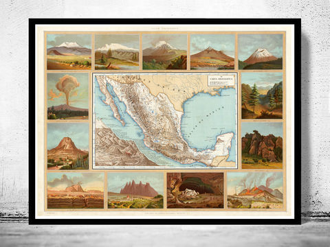 Old,Map,of,Mexico,Republic,1885,Art,Reproduction,Open_Edition,old_map,antique,antique_map,vintage_map,north_america,mexico,united_states_map,Mexican,Central_Railway,map_of_mexico,mexico_map,mexican_poster,mexico_poster