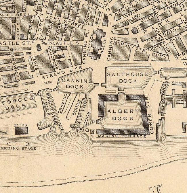 Old Map of Liverpool 1851 - VINTAGE MAPS AND PRINTS