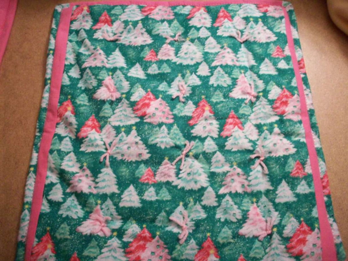 Doll Quilt Christmas Tree Print Knottyquilts