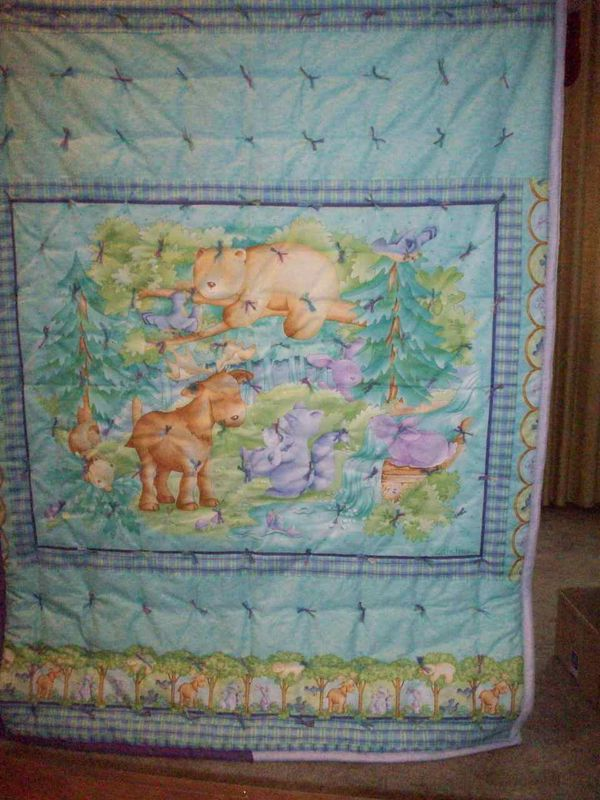 Baby Boy Crib Quilt Forest Babies Pattern By Cathy Heck