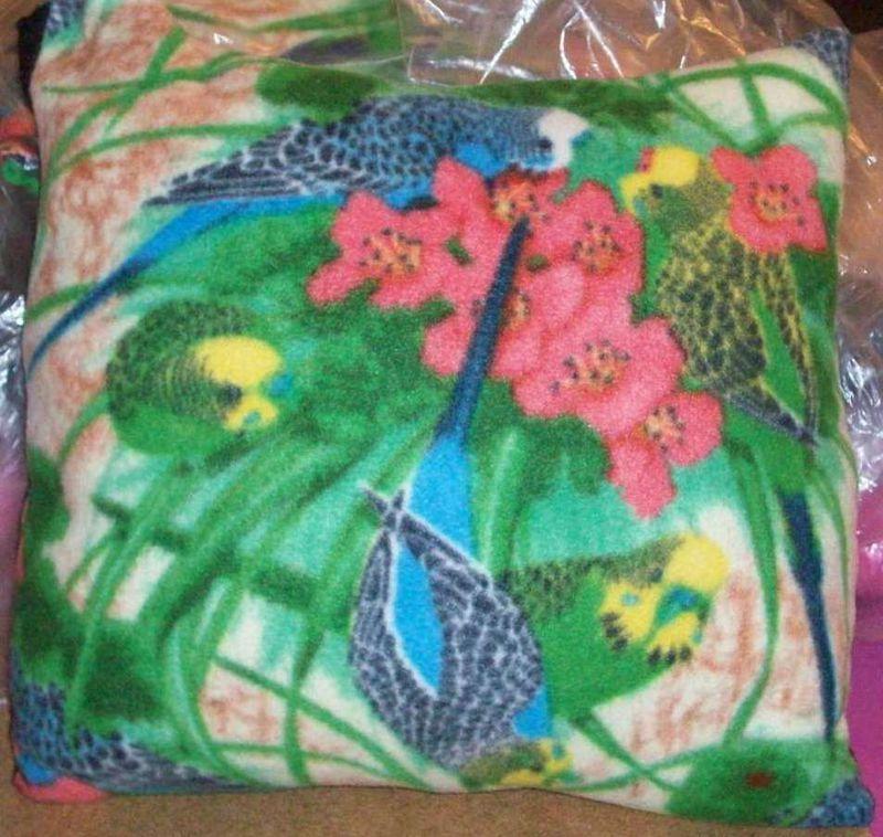 Square Quot Tropical Quot Print Fleece Pillow Knottyquilts