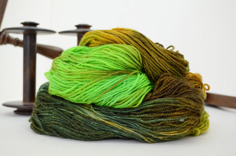 The,Shire,Folk,~,Hobbit,Inspired,Yarn,yarn, millspun, Bee-inspired, handdyed, kettle dyed,sparkle, the hobbit, lotr