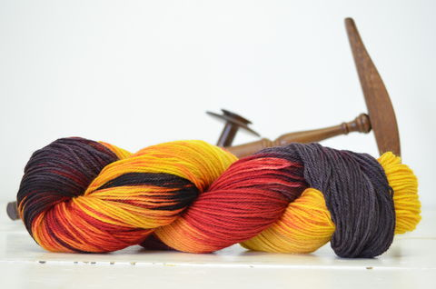 Godric,Gryffindor,~,Harry,Potter,Inspired,Yarn,yarn, Hand dyed, kettle dyed, Harry Potter, Helga Hufflepuff