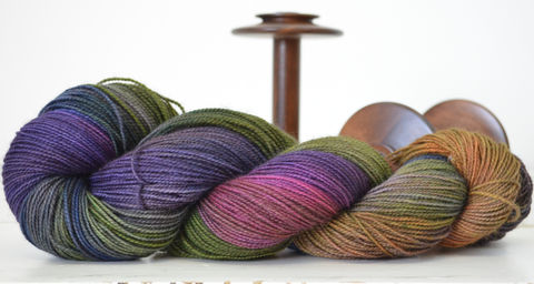 Whistling,Gypsy,yarn, hand dyed, wool