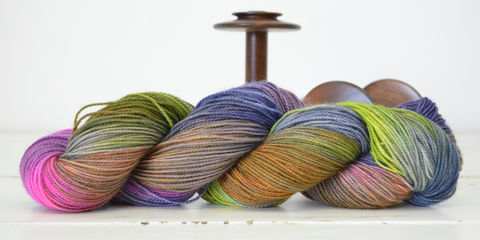 Away,with,the,Fairies,yarn, hand dyed, wool