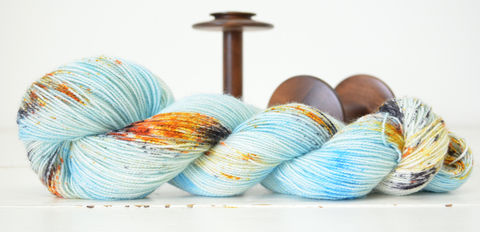 Koi,Pond,yarn, hand dyed, wool