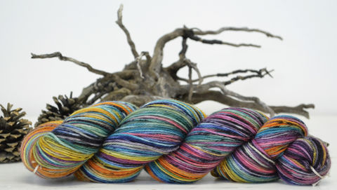 Autumn,Rainbow,yarn, hand dyed, wool