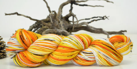 Candy,Corn,yarn, hand dyed, wool