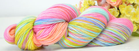 Lucky,Charms,yarn, hand dyed, wool