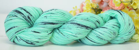 Mint,Chocolate,Chip,yarn, hand dyed, wool