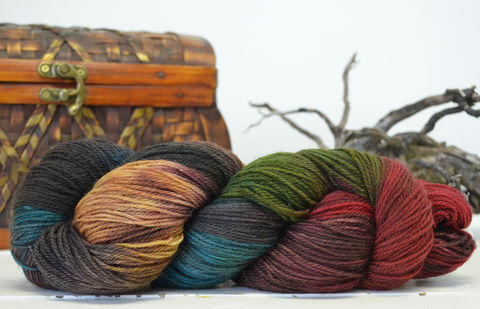 Bag,End,~,Hobbit,Inspired,Yarn, yarn, superwash, handdyed, kettle dyed, Mirkwood, middle earth, lord of the rings