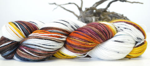 Indian,Corn,yarn, hand dyed, wool