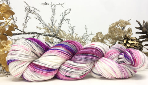 Dance,of,the,Sugar,Plum,Fairies,yarn, hand dyed, wool