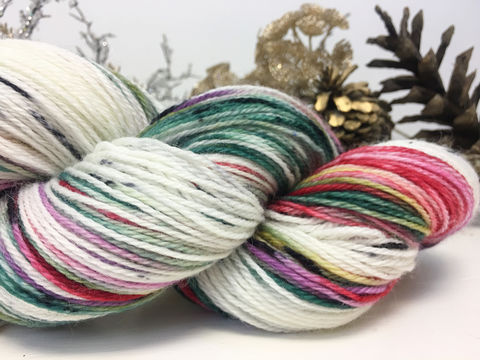 Victorian,Christmas,yarn, hand dyed, wool