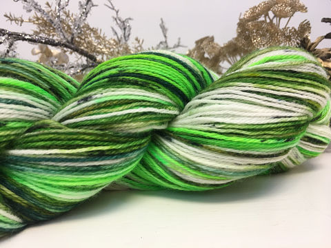 Frosted,Fraser,yarn, hand dyed, wool