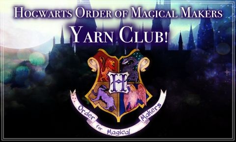 Hogwarts,Order,of,Magical,Makers,Yarn,Club,~December,Sign-ups,OPEN~,Harry potter yarn, Hogwarts yarn, magical yarn, inspired yarn, geek yarn, nerdy yarn,