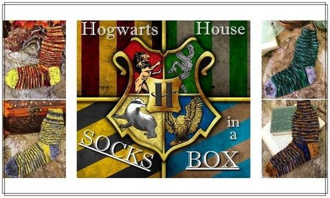 Hogwarts,House,Sock,Box!,Harry potter yarn, Hogwarts yarn, magical yarn, inspired yarn, geek yarn, nerdy yarn,  ogwarts house scarf, knitting pattern, patterns, knitting, scarf pattern, knit scarf pattern, harry potter scarf, harry potter, harry potter knits, harry potter sock ya