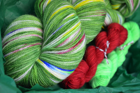 Twinkling,Christmas,Tree,Holiday,Sock,Box!,Preorders,OPEN!!,Christmas yarn, holiday yarn, yarn, sock box, sock yarn, yarn kit