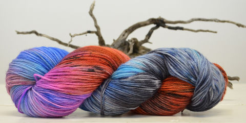 Stranger,Things,yarn, hand dyed, wool