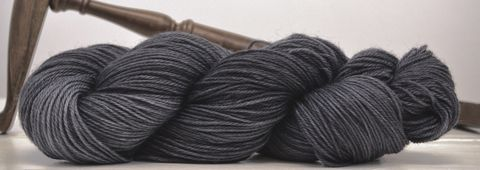 Pewter,yarn, hand dyed, wool