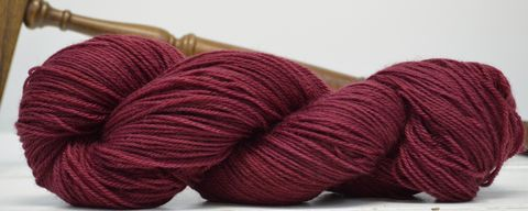 Cranberry,yarn, hand dyed, wool
