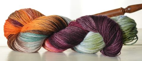 Shortcut,to,the,Mushrooms,~,Tolkien,Inspired,Yarn,Hobbit, yarn, superwash, handdyed, kettle dyed, Mirkwood, middle earth, lord of the rings