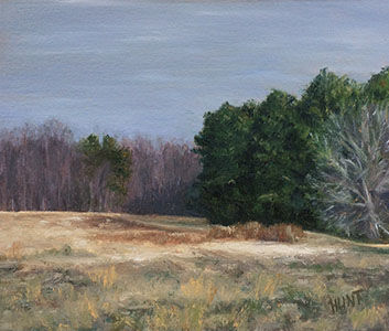 "Landscape Field Original Oil Painting on Canvas, ""East Neck Field"" - product images  of"