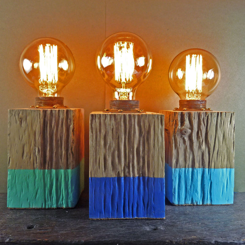 Small Driftwood Block Lamp - product images  of