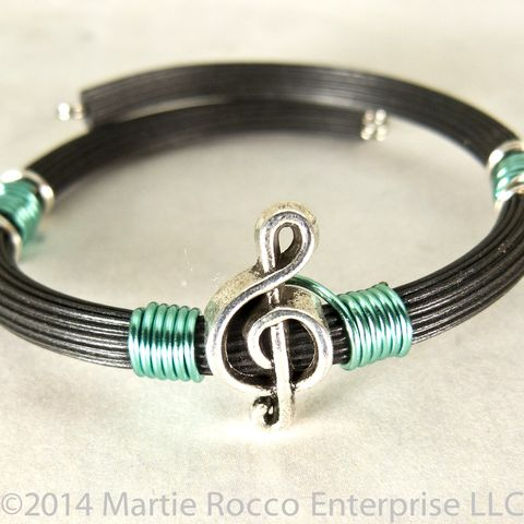 Pewter,Treble,clef,bracelet,turquoise,wire,wrap,rubber,tube,memory,Pewter Treble clef bracelet turquoise wire wrap rubber tube memory wire