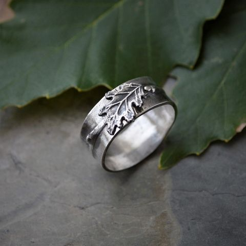 Oak,Twig,and,Leaf,Ring,in,Sterling,Silver,oak leaf ring, oak twig ring, sterling silver ring, tree ring, chinkapin oak ring, twig band ring, tree leaf ring, twig leaf ring, nature ring, botanical ring, forest ring, woodlands ring, woodlands jewelry