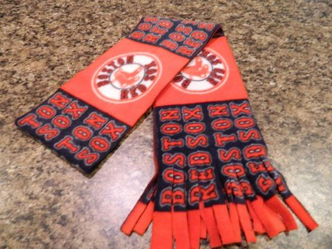 Boston,Red,Sox,Fleece,Scarf,with,Fringe,Bottom, Fringe, Scarf, Boston Red Sox, Baseball