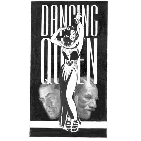 Dancing,Queen,|,Original,Drawing